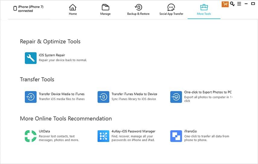 iCareFone Toolbox