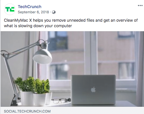 TechCrunch recommended CleanMyMac X
